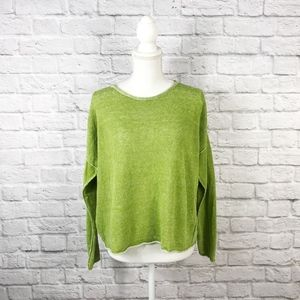 Eileen Fisher Green Knit Pullover Sweater